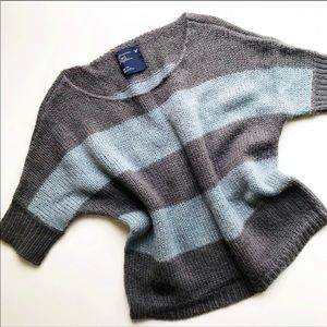American Eagle Striped Wool Blend Sweater